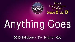 Anything Goes. Cole Porter.  D+  (karaoke piano)  WITH LYRICS. grade 8 RCM