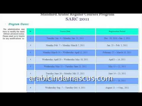 2011 Arabic Courses for Americans at the University of Damascus, Syria