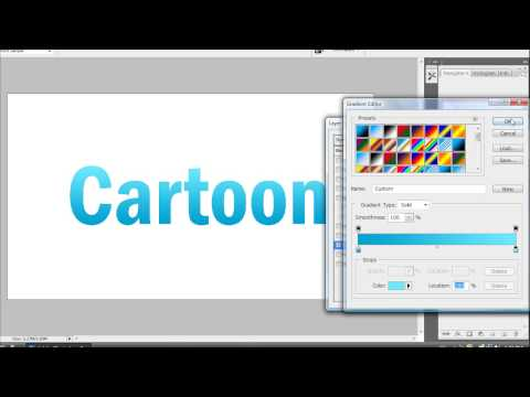 How To Get A Cartoon Text Effect In Adobe Photoshop CS3