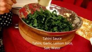 How To Make Kale Salad With Tahini Sauce