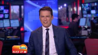 LIVE TV BLOOPER as audio desk catches fire on TODAY AUSTRALIA