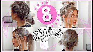 8 HEATLESS 5 MINUTE HAIRSTYLES! - EASY & SIMPLE! | LYSSRYANN