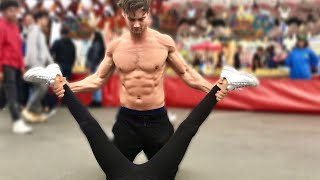 Connor Murphy Stretches Girls at a Festival (EDC)