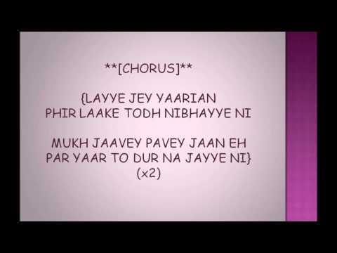Yaarian By Amrinder Gill With Lyrics On Screen