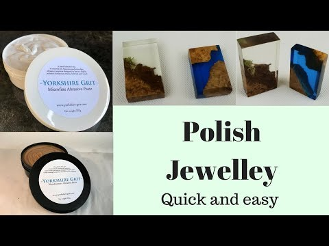 Quick and easy high polish for resin Jewellery.