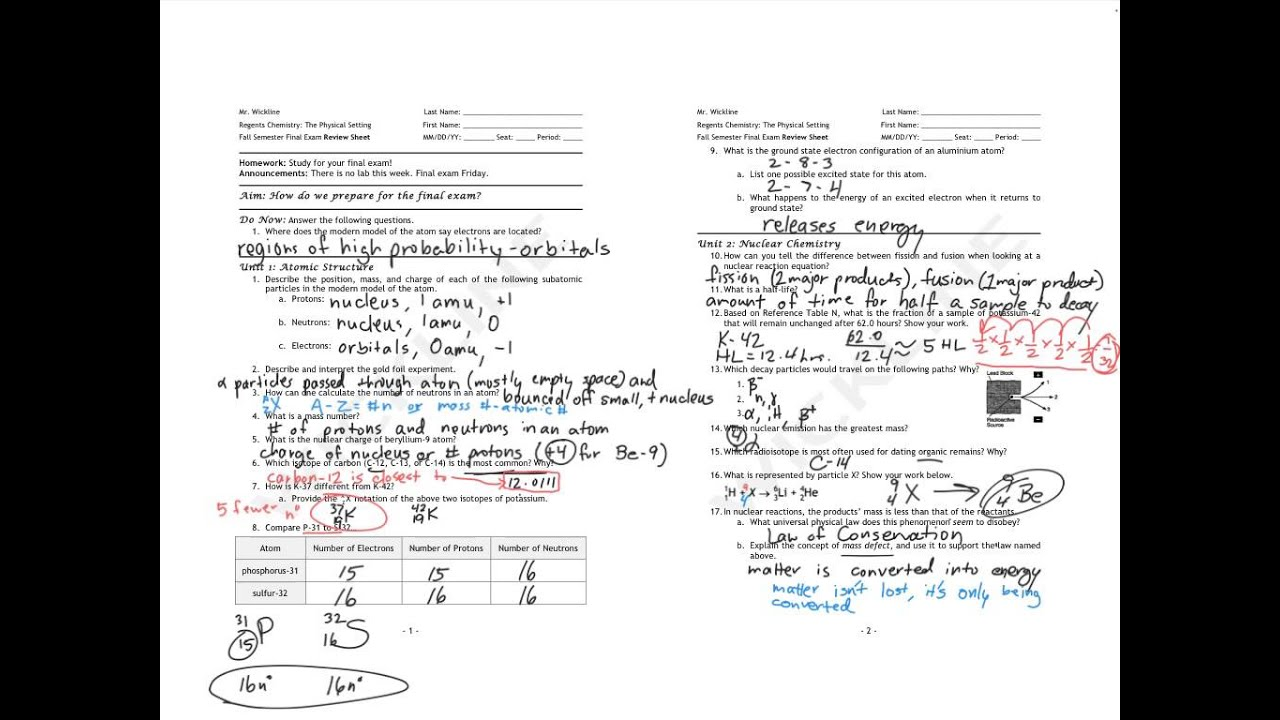 fall semester exam review sheet Fall semester- final exam review your fall semester physics final exam covers the material presented in chapters 1 – 62 the final has two parts.