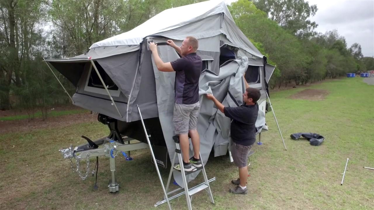 skamper kampers dingo setup instruction video [ 1280 x 720 Pixel ]