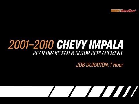 Chevy Impala Rear Brake Pads & Rotors Replacement - 2001-2010 - Make Model Series