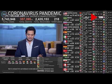 صباح الخير يا مصر -  شاهد عدد إصابات ووفيات فيروس كورونا حول العالم 28 مايو  - نشر قبل 7 ساعة