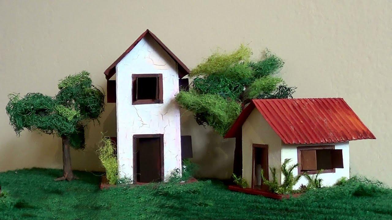 Diorama maquete casa de alvenaria maquete brick house - Como hacer una maqueta de una casa ...