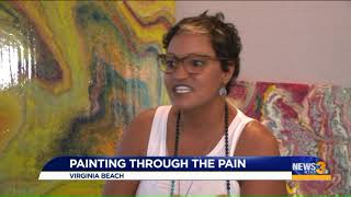 Painting Through Pain: Battling chronic illness, local Navy veteran finds joy in art