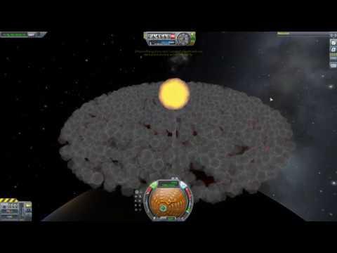 Removing Space debris with nukes in Kerbal Space Program
