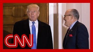 Giuliani backtracks after 'joking' that Trump might betray him