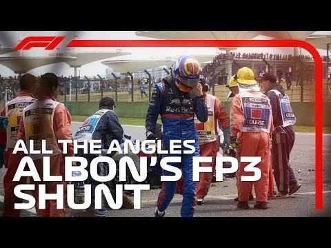 Albon's FP3 Shunt - All The Angles | 2019 Chinese Grand Prix