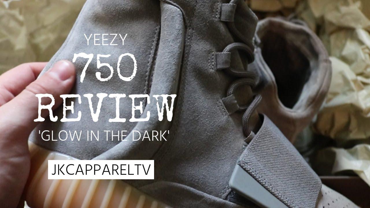 5d46ec5ecc6cc YEEZY 750 GREY GUM REVIEW ON FEET - GLOW IN THE DARK!! - YouTube