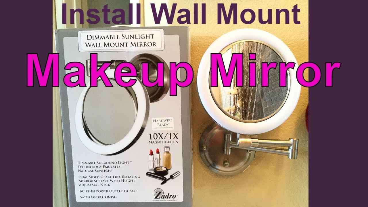 Install Wall Mount Mirror - YouTubeYouTube