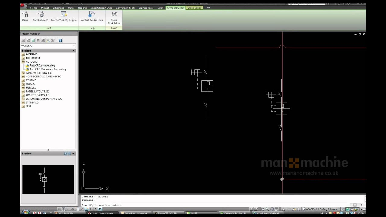 Autocad Electrical How To Use The Symbol Builder Tool Youtube