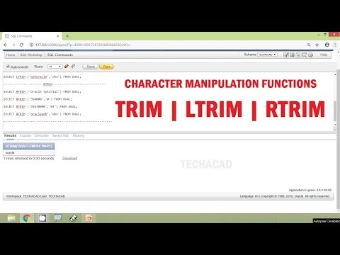 Oracle Tutorial - Character Manipulation Functions TRIM | LTRIM | RTRIM
