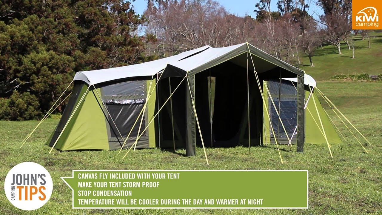 Kiwi C&ing Moa Canvas Tent Series - Key Features & Kiwi Camping Moa Canvas Tent Series - Key Features - YouTube