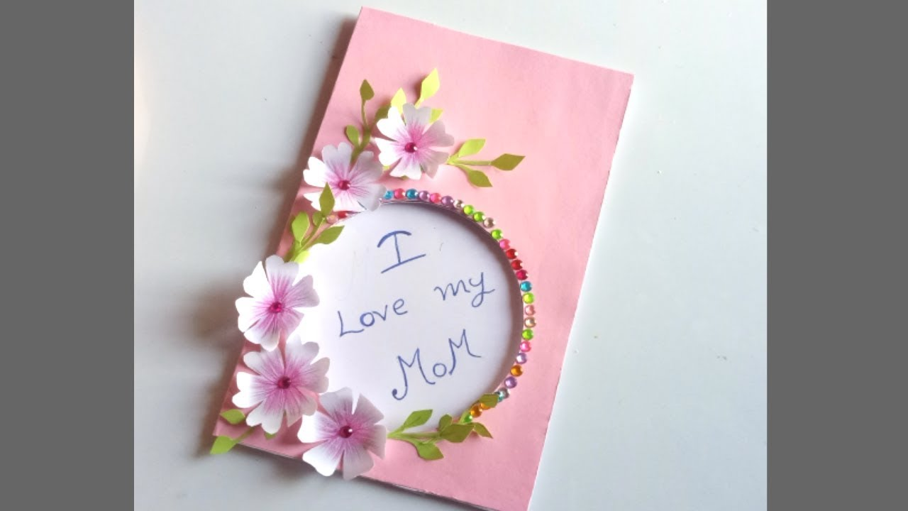 Diy Mother S Day Card Mother S Day Pop Up Card Making Pop Up Balloon Card For Mom