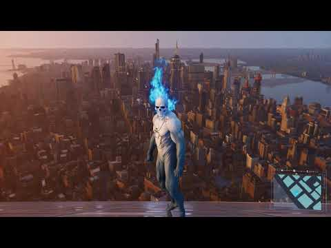 Spider-Man PS4 – Jumping Off Highest Building In Spirit Spider Suit (All Weathers) PS4 Pro