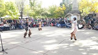 Santa Fe Indigenous Day  2018 - Teens Hoop Dance - Lightning Boy Foundation