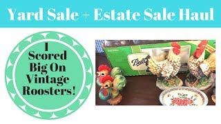 2 Yard Sales, Estate Sale and A Moving Sale Haul! Part One
