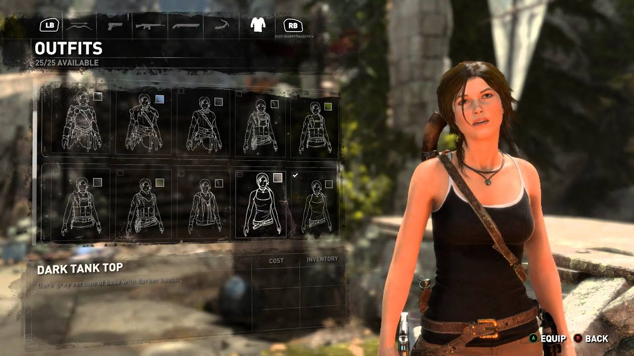 Rise Of The Tomb Raider 25 Outfits Details In Description