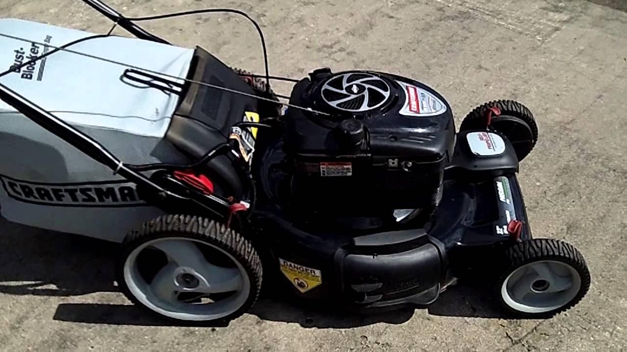 Craftsman 22 Self Propelled Mower Model 917 376531