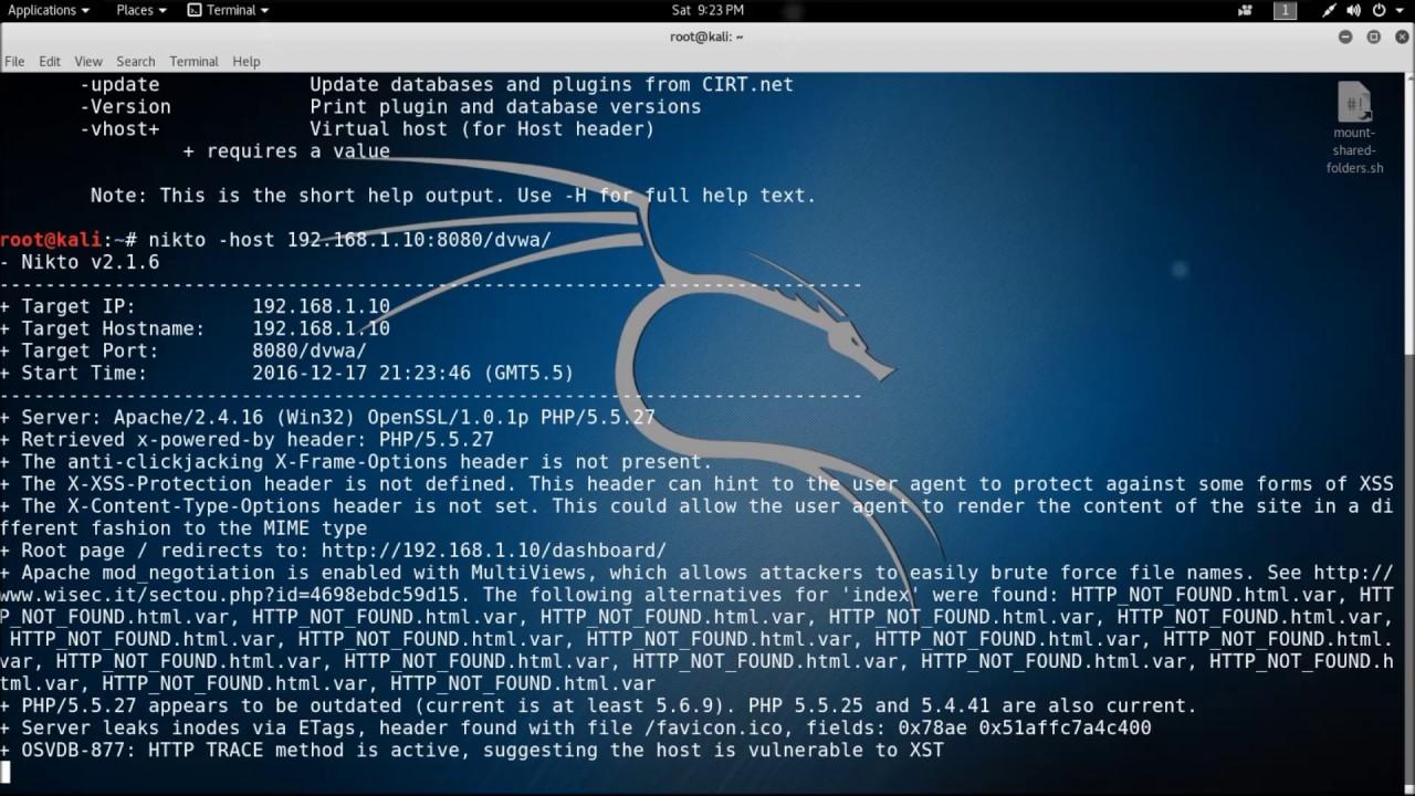 Nikto – Web Application Penetration Testing Tool - YouTube