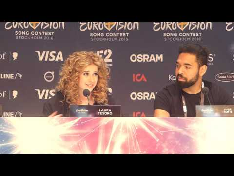 "Press conference: Laura Tesoro ""What's The Pressure?"" Belgium @ Eurovision 2016 