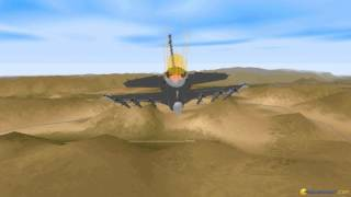F-16 Fighting Falcon gameplay (PC Game, 1996)