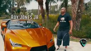 ROY JONES JR WITH A VAYDOR SUPERCAR