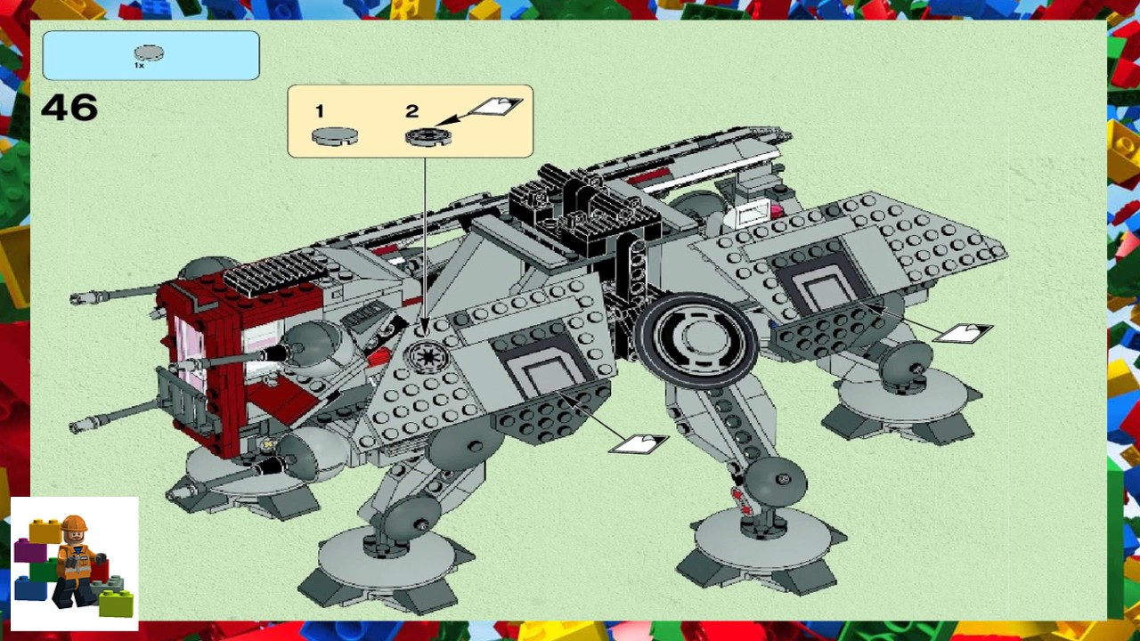 Lego Instructions Star Wars 75019 At Te Book 2 Youtube