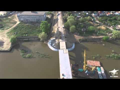 г.Астрахань Полет над мостом через реку Кривая Болда. Квадрокоптер DJI Phantom 3 Professional.