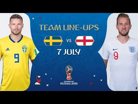 LINEUPS – SWEDEN v  ENGLAND- MATCH 60 @ 2018 FIFA World Cup™