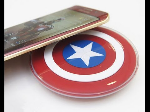 Official Samsung Captain America QI Wireless Charger Review!