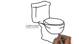 Easy Step For Kids How To Draw a Toilet Seat