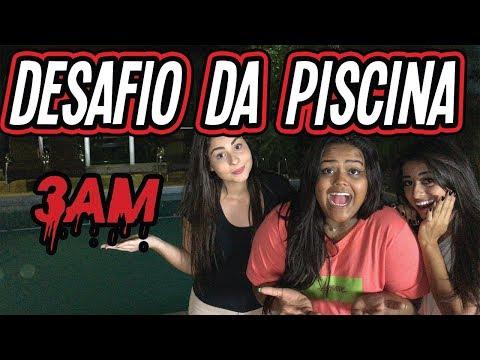 DESAFIO DA PISCINA AS 3AM !!!