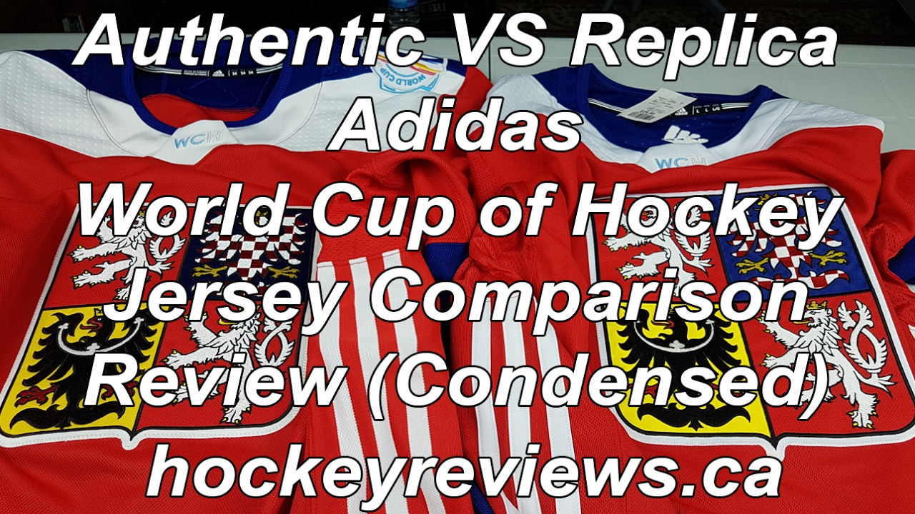 6f291c0000a Adidas World Cup of Hockey Authentic vs Replica Jersey Comparison Review  (Condensed) WCH NHL. Hockey Reviews