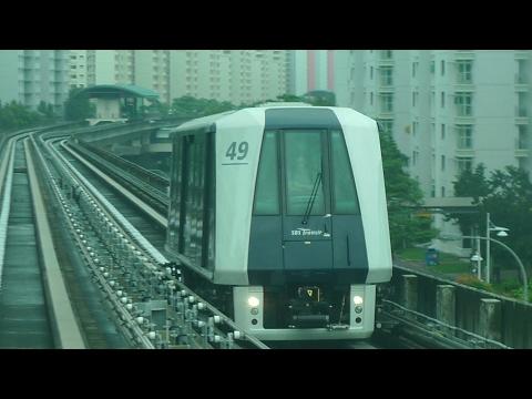 Sengkang LRT Joyride full route with Mitsubishi Heavy Industries C810
