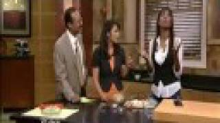 Aisha Tyler In The Kitchen Cooking Crabby Deviled Eggs