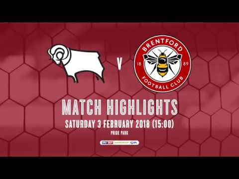 2017/18 HIGHLIGHTS: Derby County 3-0 Brentford