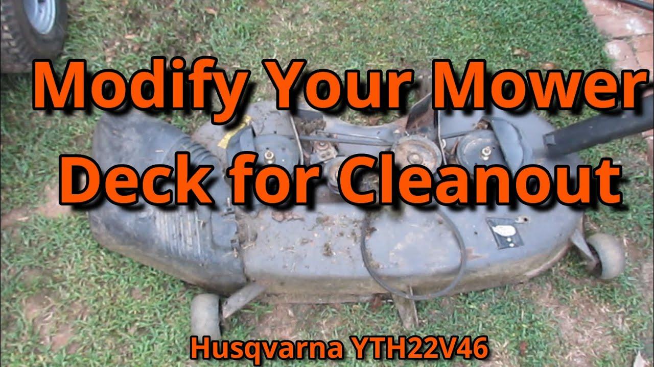 Husqvarna Deck Mod for Easier Clean Up!