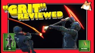 "Complete Honest Review: Fortnite ""GRIT"" Skin + ""RED STREAK"" Pickaxe /NEW [UltraWide Resolution Test]"