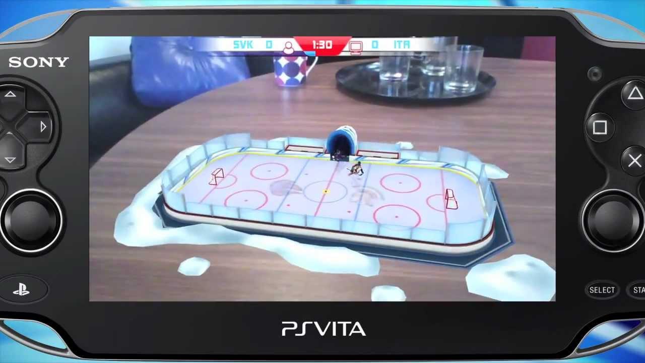 Ps Vita Ar Play Table Ice Hockey Game Walk Through Youtube