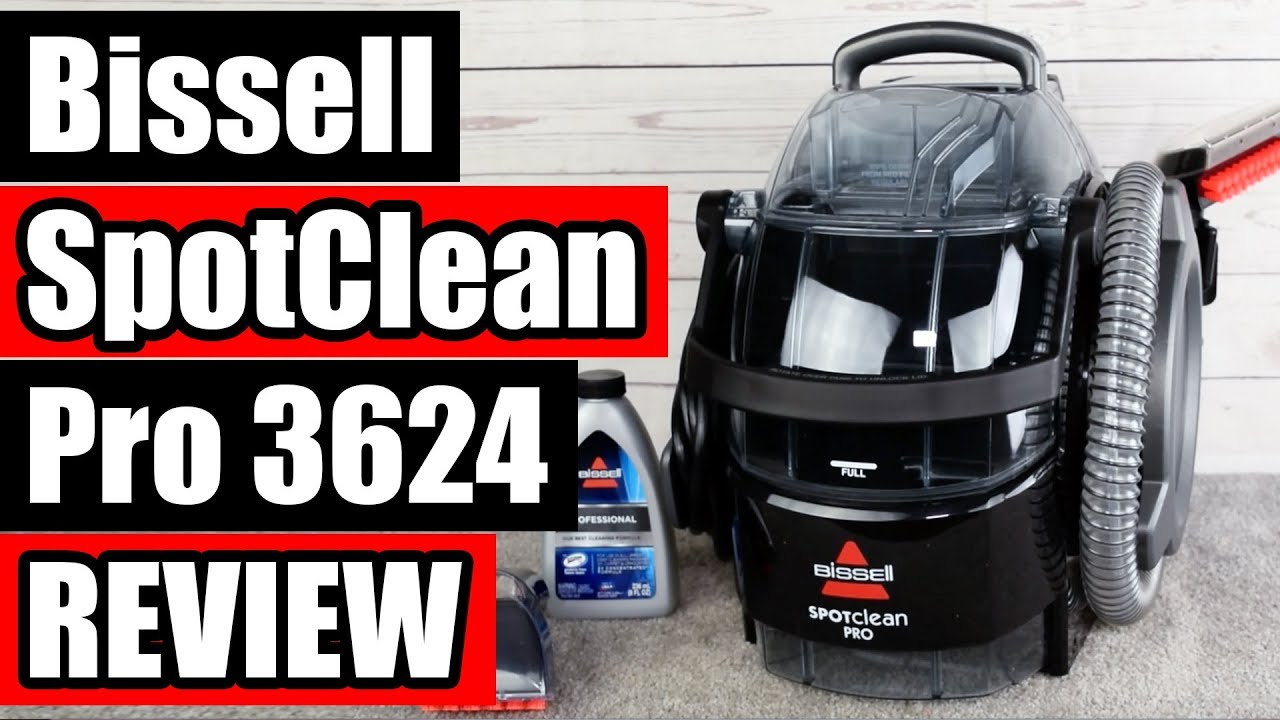 Bissell Spotclean Pro 3624 Review Portable Carpet Cleaner Youtube
