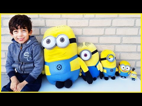 Thumbnail: Learn Sizes with Minions Toys from Smallest to Biggest for Children, Toddlers and Babies