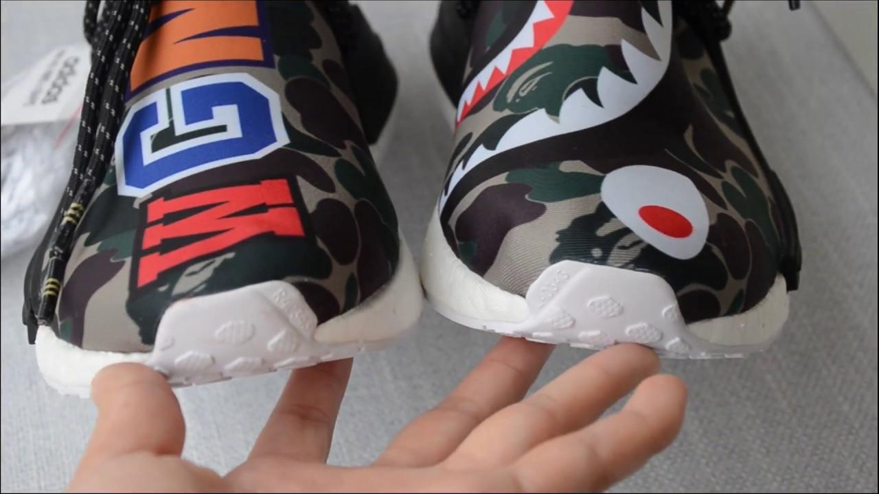 adidas pw hu nmd x bape sneaker