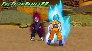 Dragon Ball Z Shin Budokai 2 Mods - Black Goku Ssj Rose Vs Goku Ssj Blue